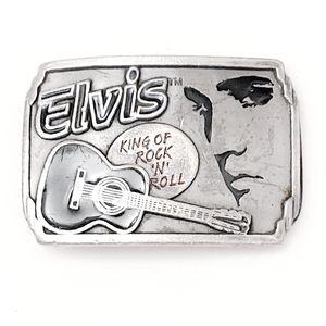 Collectors Vintage Unisex Silver Elvis Belt Buckle